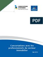 Rapport Concertations Avec Professionnels Du Secteur Immobilier ~ 1
