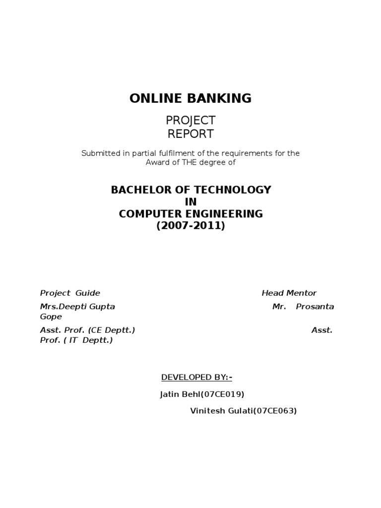 Online Banking System Project In Java Pdf
