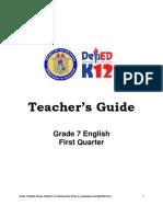 Tg First Quarter Grade 7 English