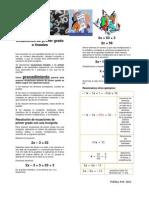 Ecuaciones de Primer Grado o Lineales