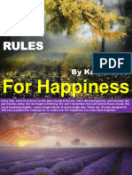 18 Rules for Happiness
