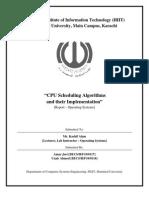 CPU Scheduling Algorithms (Report)