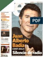 Silencio de radio (Clarín Espectáculos, 29 de junio 2012)