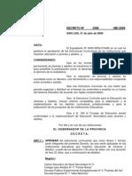 Decreto 2586-ME-2009 Ministerio de Educación de la Provincia de San Luis