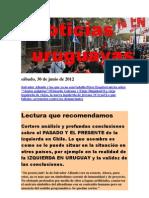 Noticias Uruguayas sábado 30 de junio del 2012
