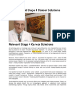 Relevant Stage 4 Cancer Solutions