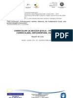 Disciplina_Optionala 1 A1 - CDS - Proiectare Curriculara, Implementare, Evaluare