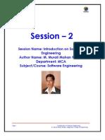 Introduction on Software Engineering_Murali Mohan Reddy_Vaageshwari College of Engineering_S2