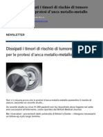 Newsletter Rischio Tumore Metallo Metallo