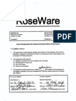"RoseWare ""Cost Containment"" Contract"