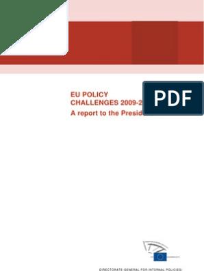 foto de EU Policy Challenges 2009-19 - Full Text | European Union ...