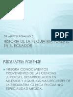 Historia de La Psiquiatria Forense en El Ecuador