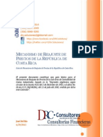 Guía de Mecanismo de Reajuste de Precios de la República de Costa Rica