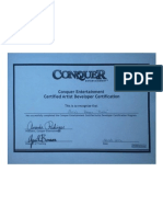 Conquer Certification