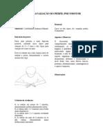 FICHA AVALIAÇÃO  DO PERFIL PSICOMOTOR Praxia Fina coo- dina- Manual