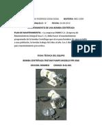 mantenimiento bomba centrífuga