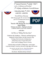 Patriotic 4th of July 2012 Flyer - Historic Newell House