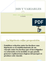 9 Hipótesis y variables