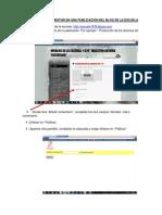 TUTORIAL PARA COMENTAR EN UNA PUBLICACIÓN DEL BLOG DE LA ESCUELA