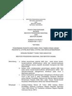 Peraturan Mendikbud Menag tentang PPDB 2012/2013
