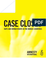Rape Prosecution Failings in Nordic Countries
