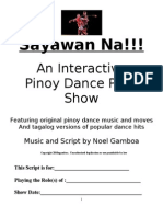 Sayawan Na!! Dance Show Script- 3-17-2010
