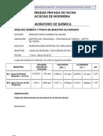 Analisis Quimico Fisico - Tarucachi