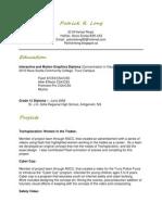 Patrick Resume 2012-1
