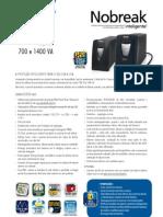 Catalogo de Nobreak SMS Net 4 Plus Expert 700 e 1400 VA (23400 110417)