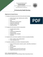 Objectives for Ocular Survey