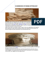 Major Gods and Goddesses of Roman Mythology