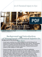 Management of Ocular Chemical Injuries
