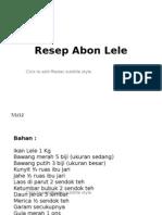 Resep Abon Lele