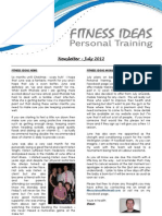 Fitness Ideas Newsletter - 1 July 2012