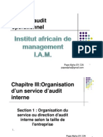 Organisation d'Un Service d'Audit Interne
