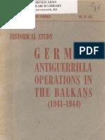 German Antiguerrilla Operations in the Balkans 1941 1945
