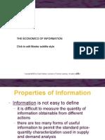 Economic of Information