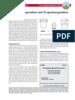 Basics of Evaporation and Evapotranspiration