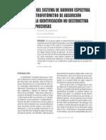 Identificación No Destructiva de Piedras Preciosas Usando Un Espectrofotómetro de Absorción Atómica