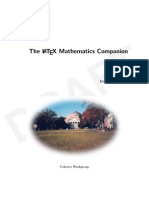 The LATEX Mathematics Companion