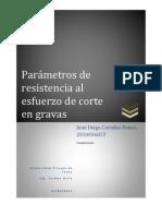 Parametros de Resistencia Al Corte - Gravas