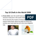 Top 10 Chefs in the World 2009