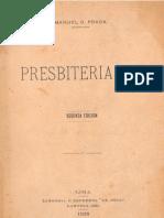 Manuel GONZALEZ PRADA Presbiterianas 2a Ed 1928