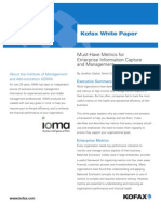 Wp Must Have Metrics for Enterprise Information Capture and Management En