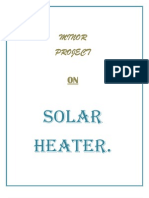 Solar Parabolic Water Heaters project report