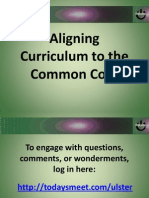 Aligning to the Common Core