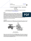 Design Needs of A Solar PV System For Winton – Queensland, Australia