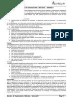 Apuntes de Organización y Métodos - Semana IV