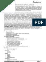 Apuntes de Organización y Métodos - Semana VII