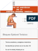 Anestesia Epidural Toracica